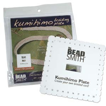 """The Beadsmith 6"""" Kumihimo Disc Square with instructions"""
