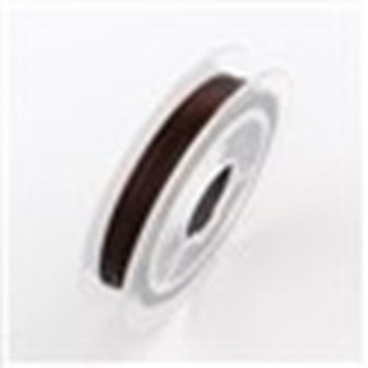 Beading Wire Steel Tiger Tail, Coconut Brown, 0.38mm; about 10m/roll