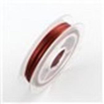Beading Wire Steel Tiger Tail, Fire Brick, 0.38mm; about 10m/roll