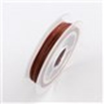 Beading Wire Steel Tiger Tail, Indian Red, 0.38mm; about 10m/roll