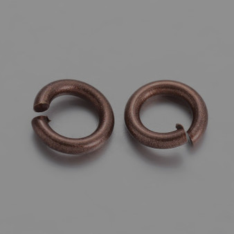 Brass Open Jump Rings, Dark Red Copper, 6x1mm;  4mm I.D. (10gms - approx 100)