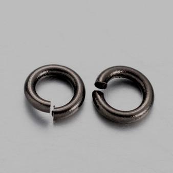 Brass Open Jump Rings, Gunmetal, 4x0.8mm;  2.4mm I.D. (10gms - approx 250)