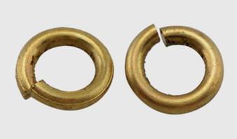 Brass Open Jump Rings, Bronze, 5x1mm;  3mm I.D. (10gms - approx 120)