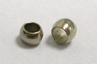 5 gram bag of Round Metal Crimps 2mm Platinum (approx 500 crimps)