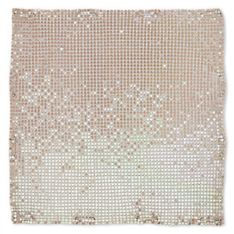 Sequin sheet, anodized aluminum, Iris Gold, 8-inch single-sided square with 3mm sequins, 1.5mm thick. Sold individually.
