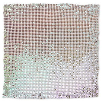 Sequin sheet, anodized aluminum, Rainbow Purple, 8-inch single-sided square with 3mm sequins, 1.5mm thick. Sold individually.