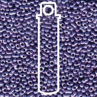 Light Violet Luster Matsuno Peanut Beads 2 x 4mm - 23gm/tb (P4010) (approx 700 beads)