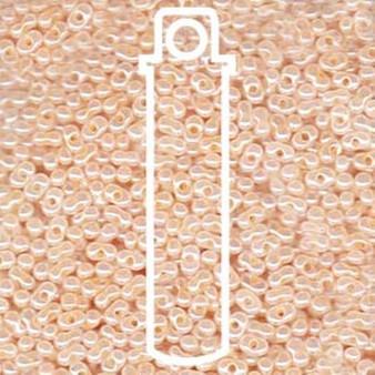 Ceylon Peach Matsuno Peanut Beads 2 x 4mm - 23gm/tb (P3332) (approx 700 beads)