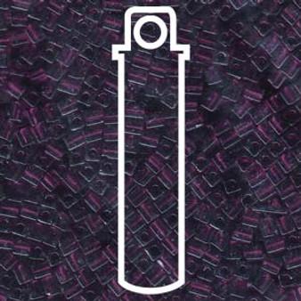 Transparent Smoky Amethyst Miyuki 3mm Cubes Apprx 20gm (420 beads) - SB3-153L