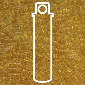 Transparent Light Topaz Miyuki 3mm Cubes Apprx 20gm (420 beads) - SB3-132