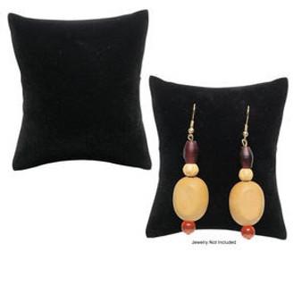 Display, flocked velvet, black, 3-1/2x3x1-3/4 inch pillow. Sold per pkg of 4.