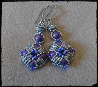 Handmade Earrings Met Suede Purple