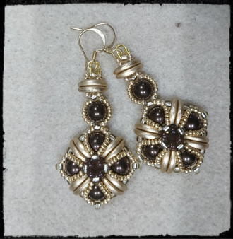 Handmade Earrings Dark Bronze
