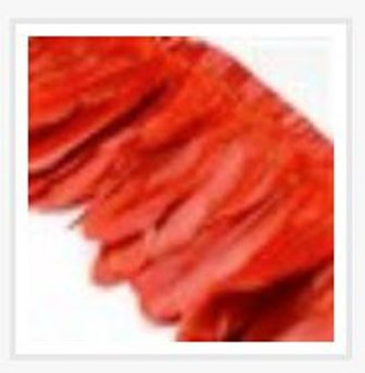 Fashion Goose Feather, Costume Accessory, Red, 100-180mm x 38-62mm; about 2m/bag