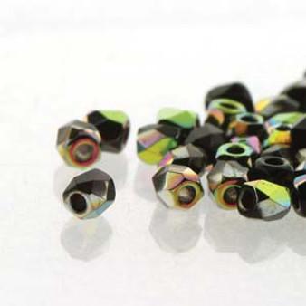FPR0223980-28101 - TRUE 2 - Jet Vitrail - 100pcs - Czech Fire Polished beads