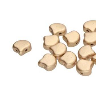GNK8700030-01710 - 7.5mm - Matubo Czech - Bronze Pale Gold - 10gm bag (approx 38 beads) - Glass Ginko Bead
