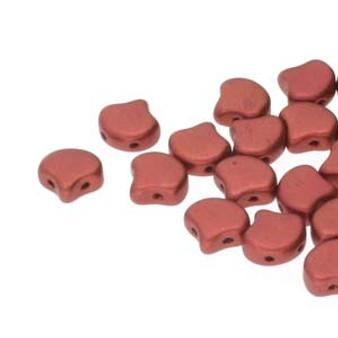 GNK8700030-01750 - 7.5mm - Matubo Czech - Bronze Fire Red - 10gm bag (approx 38 beads) - Glass Ginko Bead
