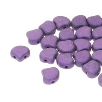 GNK8723980-79021 - 7.5mm - Matubo Czech - Met Suede Purple - 10gm bag (approx 38 beads) - Glass Ginko Bead