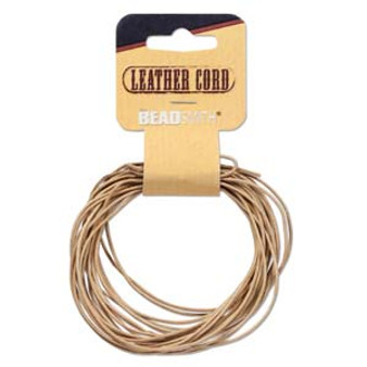 Leather Cord Natural 5 yards - 1mm thick