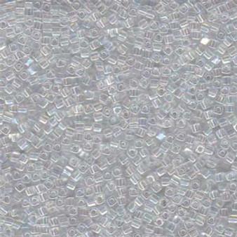 1.8mm Miyuki Square Bead - Crystal AB SB18-250 - 25gm Bag