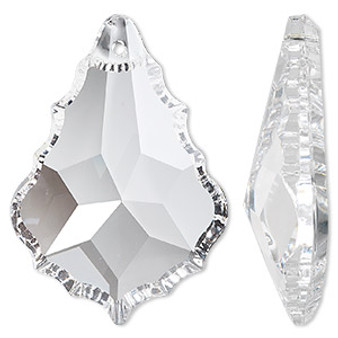 Suncatcher, Asfour Crystal, crystal clear, 50x35mm faceted baroque. Sold per pkg of 20