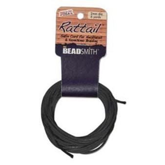 Rattail 1mm Thick - 6 Yards - Black