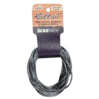 Rattail 1mm Thick - 6 Yards - Dark Grey