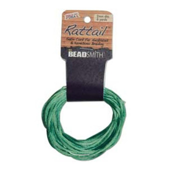 Rattail 1mm Thick - 6 Yards - Emerald