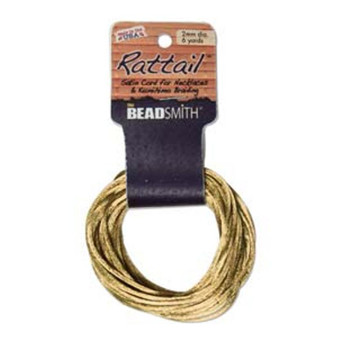 Rattail 1mm Thick - 6 Yards - Gold
