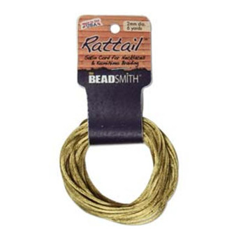 Rattail 1mm Thick - 6 Yards - Antique Gold