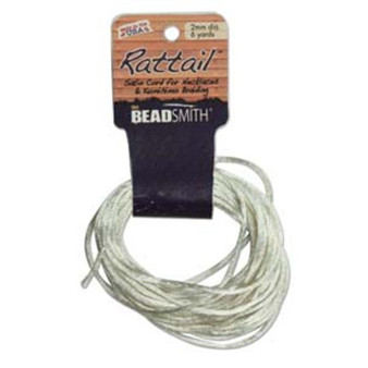 Rattail 1mm Thick - 6 Yards -Ivory