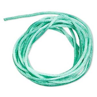 Cord, Satinique™, satin, Seafoam Green, 2mm regular. Sold per pkg of 10 feet.