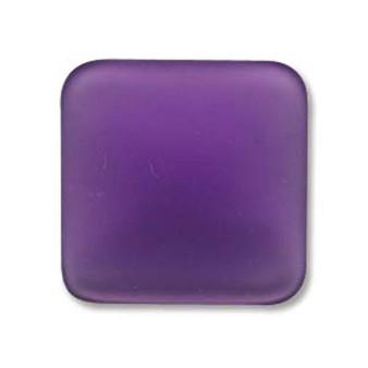1 x Lunasoft Cabochon Square 17mm Grape