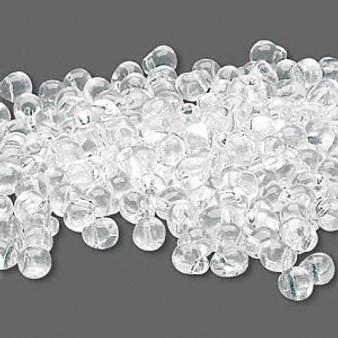 Seed bead, Miyuki, glass, transparent clear, (DP131), 4x3.4mm fringe. Sold per 10-gram pkg.
