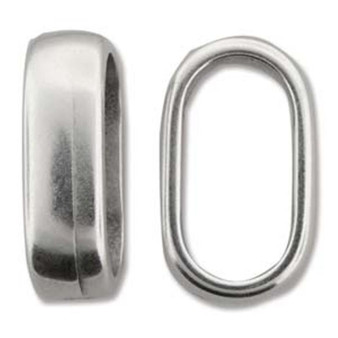 Climbing Rope Finding - Ant Silver - Double Cord Component 14 x 23mm - Sold per pkg of 2