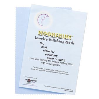 Polishing cloth, Moonshine®, blue, 7-1/2 x 5 inches. Sold individually.