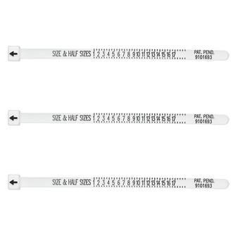 Tool, Multisizer™ ring sizing gauge, acrylic, white. Sold per pkg of 3.