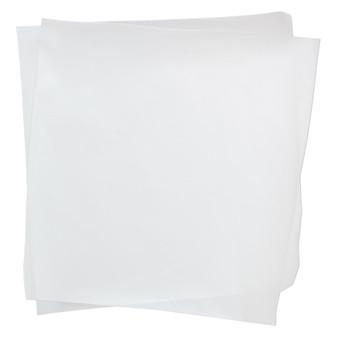 Non-stick sheet, Teflon®, white, 6-inch square. Sold per pkg of 2.