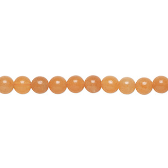 """Bead, red aventurine (natural), 4mm round, B grade, Mohs hardness 7. Sold per 15-1/2"""" to 16"""" strand."""