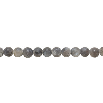Bead, blue labradorite (natural), matte, 4mm round, B grade, Mohs hardness 6 to 6-1/2. Sold per 8-inch strand, approximately 45 beads.