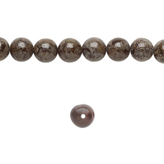 """Bead, brown snowflake jasper (natural), 6mm round, B grade, Mohs hardness 6-1/2 to 7. Sold per 15-1/2"""" to 16"""" strand."""
