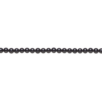 """Bead, black onyx (dyed), 2mm round, A- grade, Mohs hardness 6-1/2 to 7. Sold per 15-1/2"""" to 16"""" strand."""