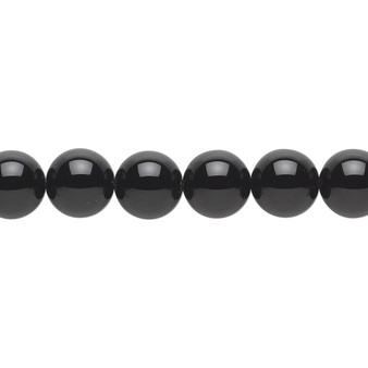 """Bead, black onyx (dyed), 8mm round, A- grade, Mohs hardness 6-1/2 to 7. Sold per 15-1/2"""" to 16"""" strand."""