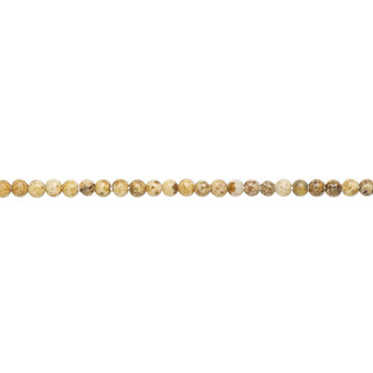 """Bead, picture jasper (natural), 2mm round, B grade, Mohs hardness 6-1/2 to 7. Sold per 15-1/2"""" to 16"""" strand."""