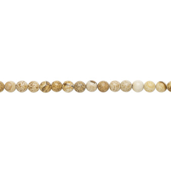 """Bead, picture jasper (natural), 3mm round, B grade, Mohs hardness 6-1/2 to 7. Sold per 15-1/2"""" to 16"""" strand."""