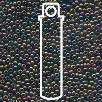 "11-01640 - 11/0 - Czech Beads - Dark Bronze - 24gm, 5"" Vial - Glass  Round Seed Bead"