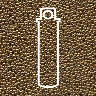 """11-01710 - 11/0 - Czech Beads - Pale Bronze Gold - 24gm, 5"""" Vial - Glass  Round Seed Bead"""