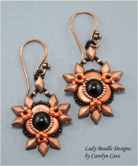 Free Download Pattern - Firethorn Earrings - designed by Carolyn Cave