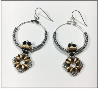 Free Download Pattern - Fixer dangle earrings - designed by Leslie Rogalski