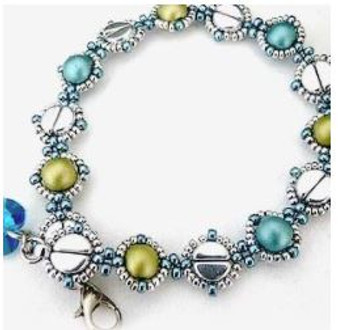 Free Download Pattern - Lise Bracelet and Necklace - designed by Annick Puca